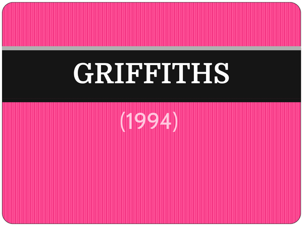 Preview of Griffiths (1994) - AS Core Study
