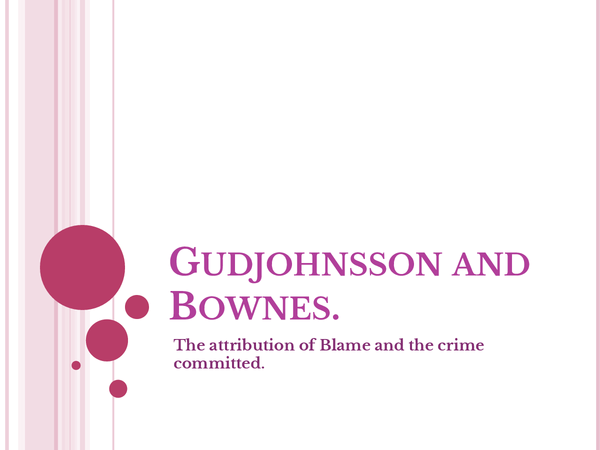 Preview of Gudjohnsson and Bowness