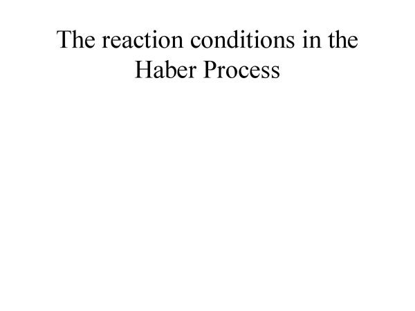 Preview of Haber Process