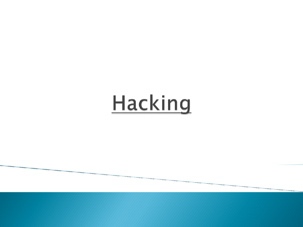 Preview of Hacking powerpoint