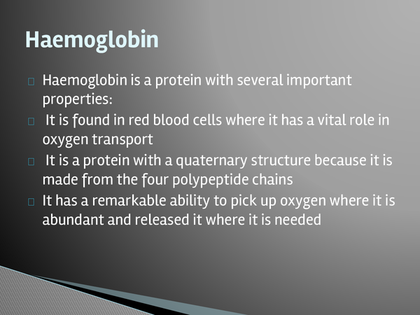 Preview of Haemoglobin