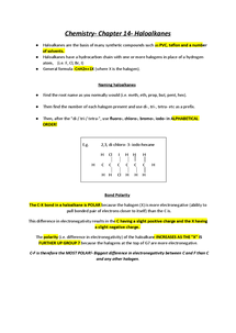 Preview of Haloalkanes complete revision notes
