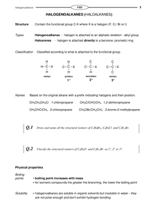 Preview of Halogenoalkanes
