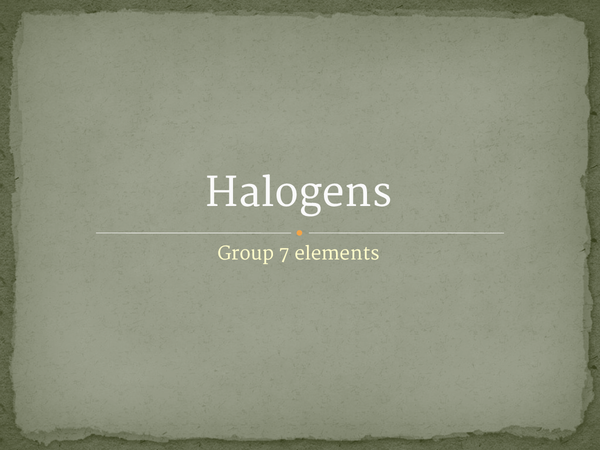 Preview of Halogens