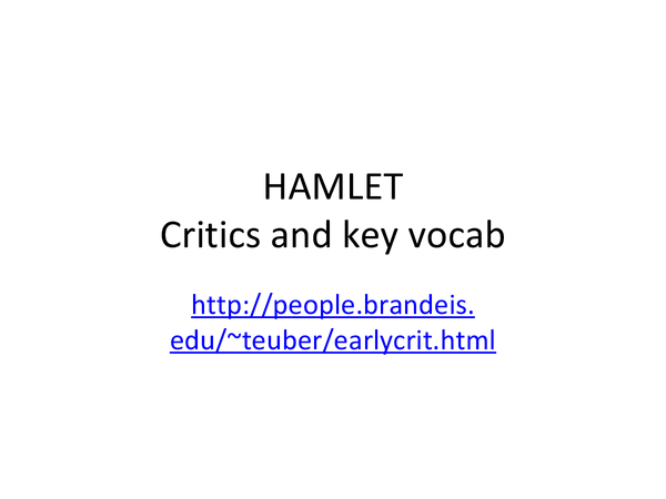 english coursework hamlet refers to claudius essay Hamlet revenge essay claudius vs hamlet essay examples william shakespeare's hamlet as the most known play in the english language essay on hamlet vs.