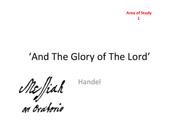 Preview of Handel Powerpoint Set Work Summary