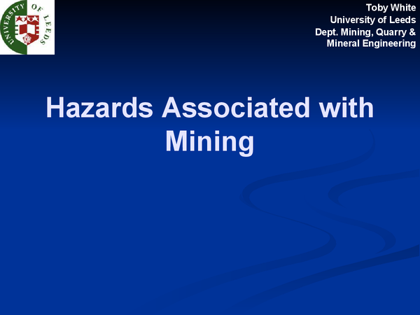 Preview of Hazards Associated with Mining