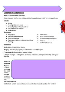 Preview of Health & Social Care - Circulatory Group