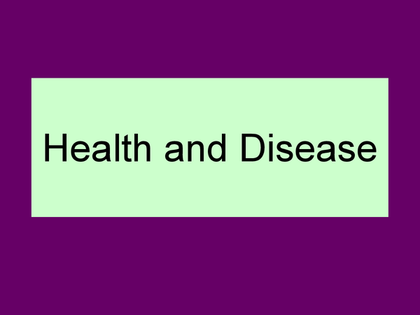 Preview of Health and Disease - OCR AS Biology
