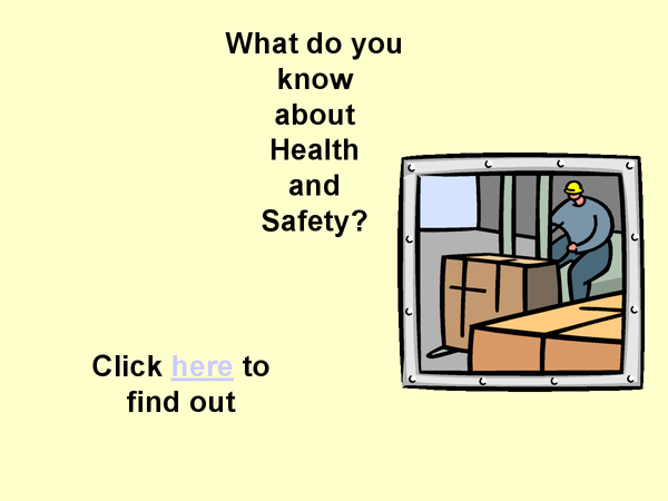 Preview of GCSE OCR Law Unit 3 - Health and Safety Signs Quiz