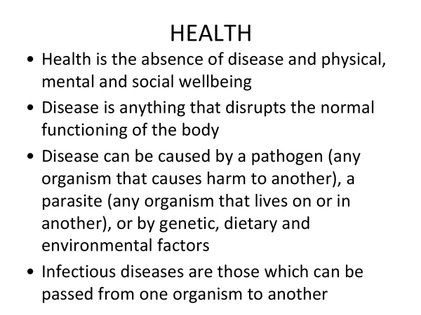 Preview of Health (Unit 2 Module 2 OCR)