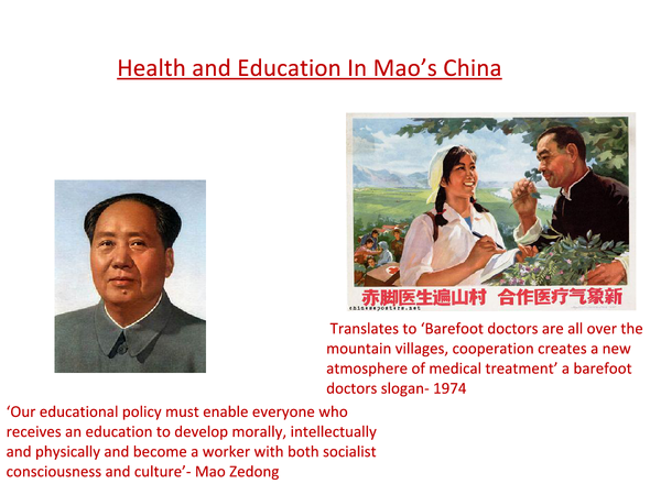 Preview of Healthcare in Mao's China 1949-1976