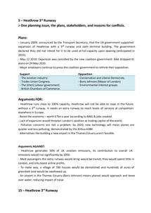 Preview of Heathrow Runway Development - Case Study