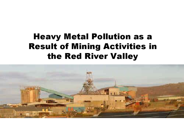 Preview of Heavy Metal Pollution as a Result of Mining Activities in the Red River Valley