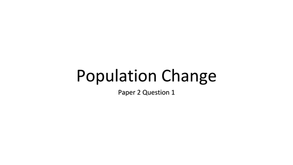 Preview of Help me revise population