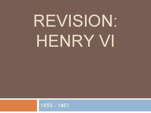 Preview of Henry VI - revision overview