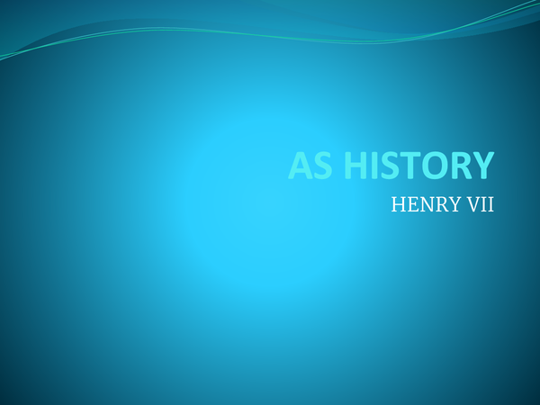 Preview of Henry VII - gaining control