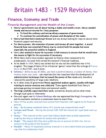 Preview of Henry VII Revision - Economic + Trade
