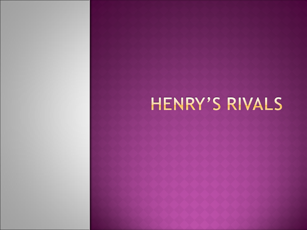 Preview of Henry's Rivals