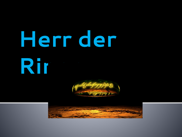 Preview of Herr der Ringe Powerpoint