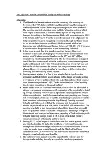 Preview of Hilter's foreign policy - Hossbach Memorandum