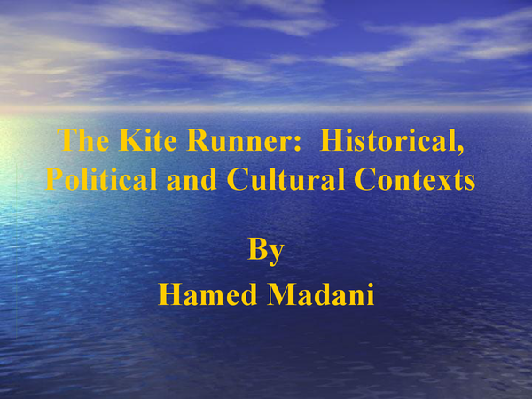 Preview of Historical Context of The Kite Runner