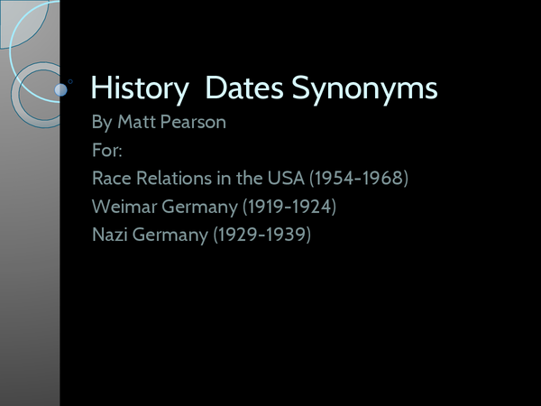 Preview of History dates Acronyms