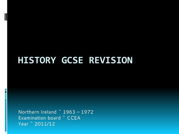 Preview of History GCSE revision ~ Northern Ireland