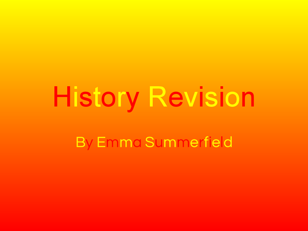 Preview of History Key Topic 2