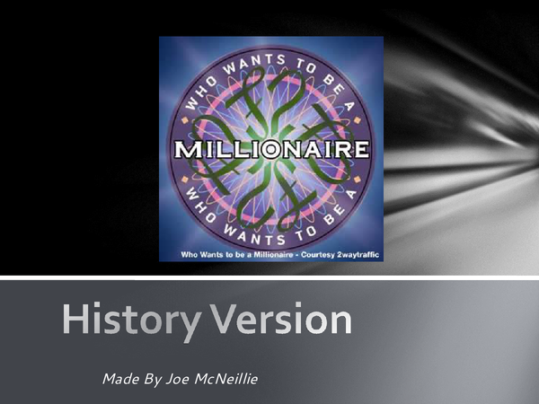 Preview of History Millionare Style Game PowerPoint