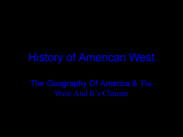 Preview of History of American West