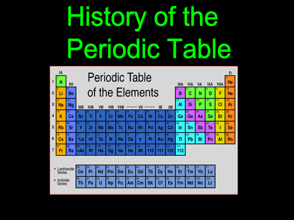 Preview of History of the Periodic table