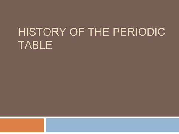 Preview of History of the periodic table - C4