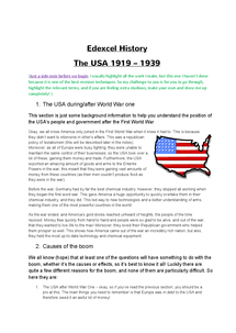 Preview of History - USA 1919 -1941 (entire syllabus)