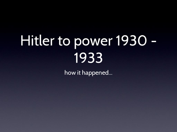 Preview of Hitler To Power powerpoint