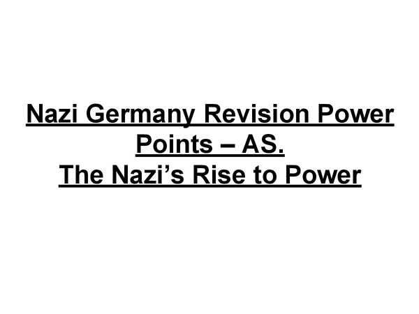 Preview of Hitler's rise to power