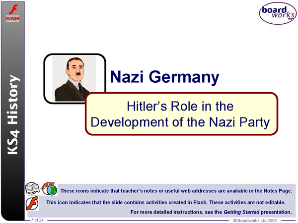 Preview of Hitlers Role in the Development of the Nazi Party