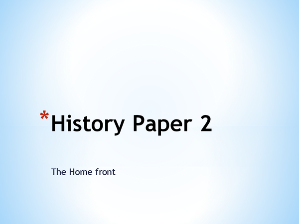 Preview of Home front (Britian in WW1)