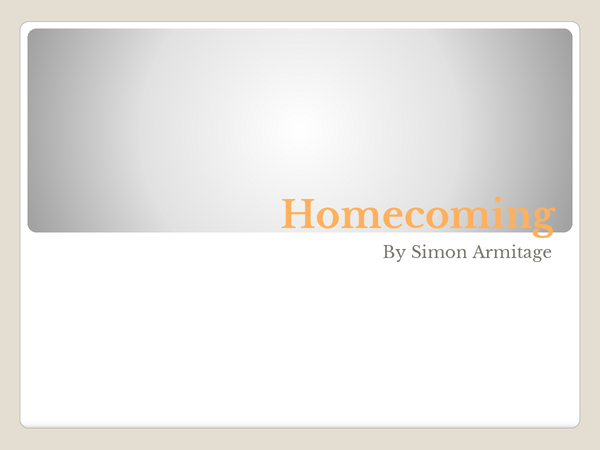 Preview of Homecoming poem