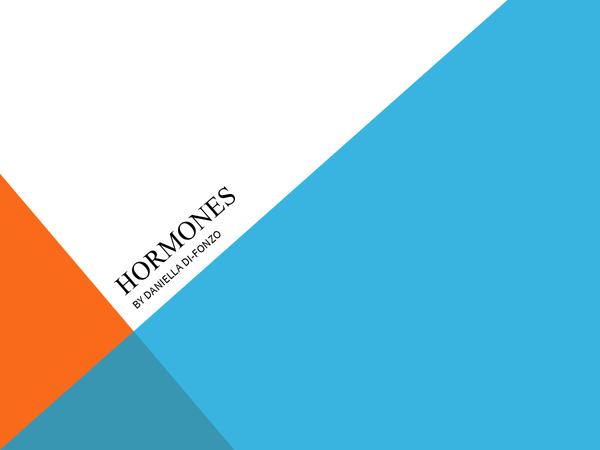 Preview of hormones