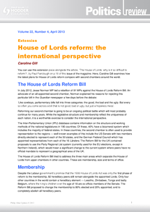 Preview of House of Lords Reform - Politics review