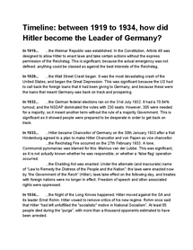 Preview of How did Hitler become the leader of Nazi Germany?