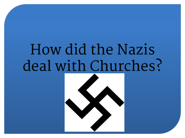Preview of How did the Nazis deal with Churches?