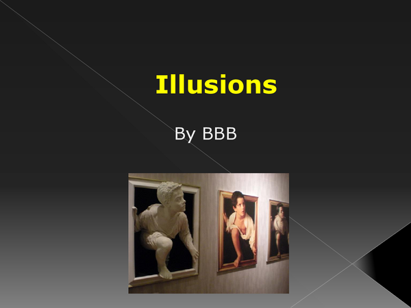 Preview of How do we see our world? (Illusions)