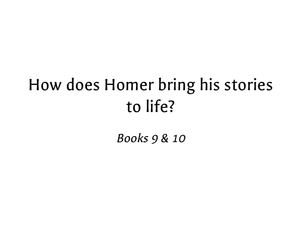 Preview of How Homer Brings Book 9 &10 of The Odyssey To Life