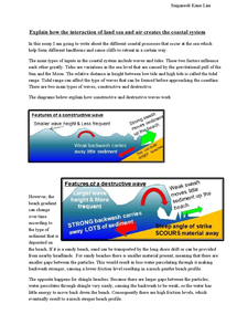 Preview of How the interaction of land sea and air creates the coastal system