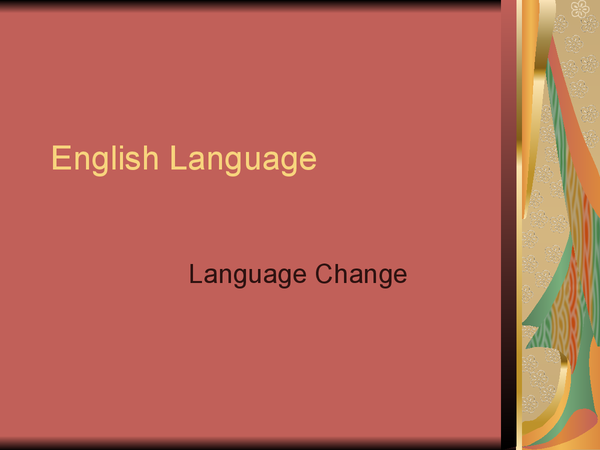 Preview of How to answer the Language Change question