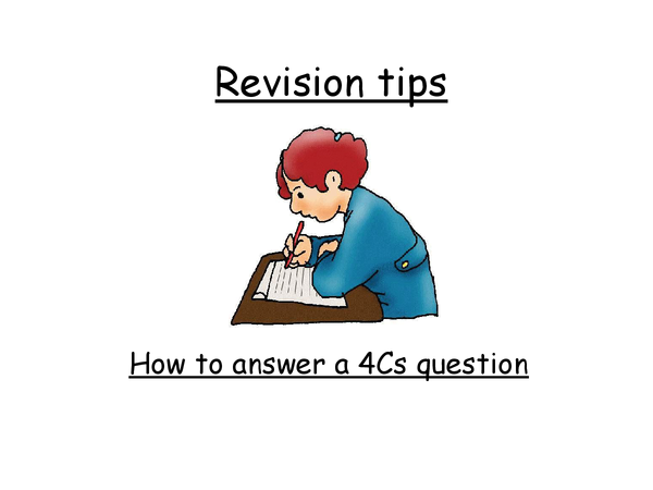 Preview of How to write a 4c's Question