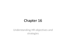 Preview of HRM - BUSS3 - chapter 16 business - understanding HR objectives and strategies - human resource strategies