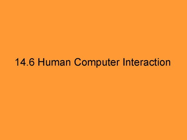 Preview of Human Computer Interface